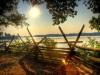 Potomac River Sunrise at Wakefield, Birthplace of Washington